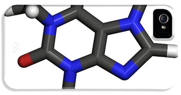 Alkaloid iPhone 5 Cases - Caffeine Molecule iPhone 5 Case by Friedrich Saurer