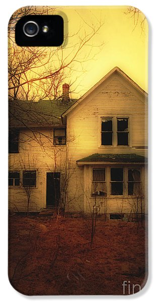 Haunted Houses iPhone 5 Cases - Creepy Abandoned House iPhone 5 Case by Jill Battaglia