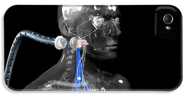 Cyborg iPhone 5 Cases - Cyborg iPhone 5 Case by Christian Darkin