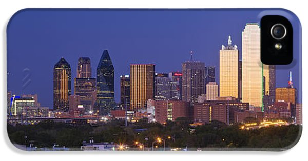 No iPhone 5 Cases - Downtown Dallas Skyline at Dusk iPhone 5 Case by Jeremy Woodhouse