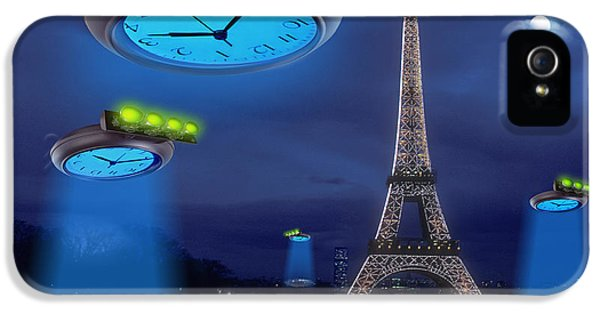 Spaceships iPhone 5 Cases - European Time Traveler iPhone 5 Case by Mike McGlothlen
