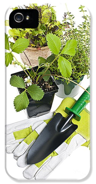 Gardening Tools And Plants IPhone 5 / 5s Case by Elena Elisseeva