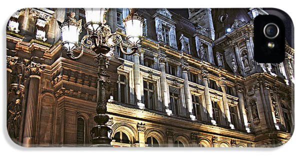 Architecture iPhone 5 Cases - Hotel de Ville in Paris iPhone 5 Case by Elena Elisseeva