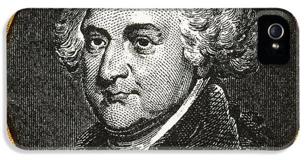 National Portrait Gallery iPhone 5 Cases - John Adams, 2nd American President iPhone 5 Case by Photo Researchers
