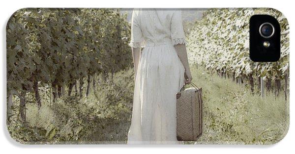 Meadow iPhone 5 Cases - Lady In Vineyard iPhone 5 Case by Joana Kruse