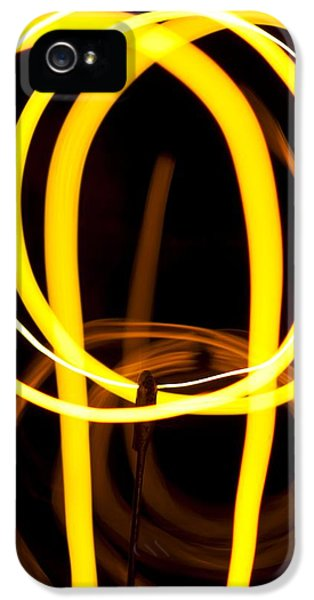 Filament (lightbulb) iPhone 5 Cases - Light Bulb Filament iPhone 5 Case by Pasieka