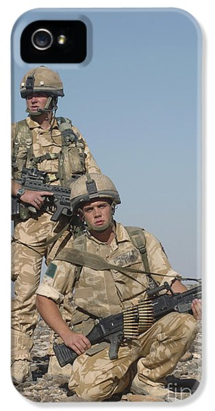 Ammunition iPhone 5 Cases - Members Of The British Army On Foot iPhone 5 Case by Andrew Chittock