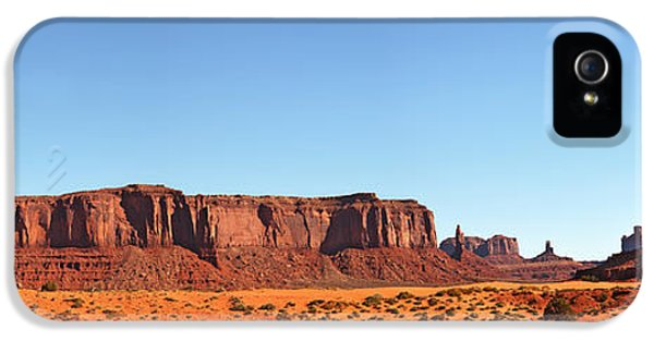 Hot Western iPhone 5 Cases - Monument Valley pano iPhone 5 Case by Jane Rix