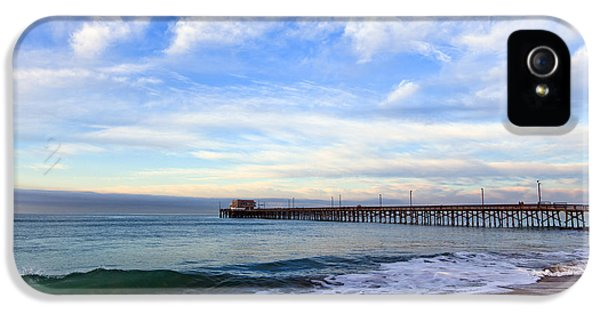 Balboa iPhone 5 Cases - Newport Beach Pier iPhone 5 Case by Paul Velgos