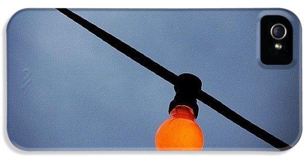 Orange Light Bulb IPhone 5 / 5s Case by Matthias Hauser