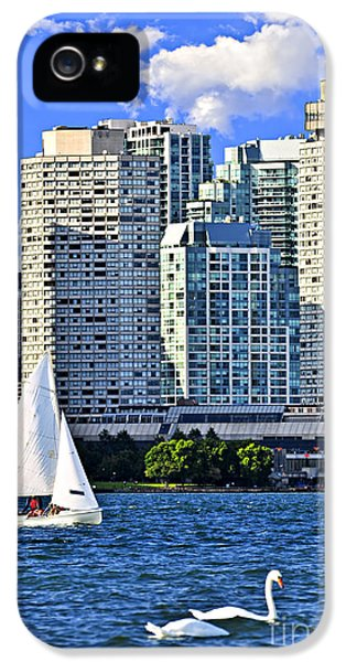 Harborfront iPhone 5 Cases - Sailing in Toronto harbor iPhone 5 Case by Elena Elisseeva