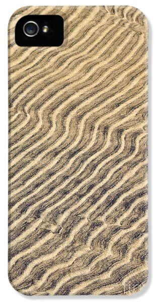 Sand iPhone 5 Cases - Sand ripples in shallow water iPhone 5 Case by Elena Elisseeva