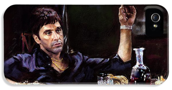 Scarface iPhone 5 Cases - Scarface iPhone 5 Case by Ylli Haruni