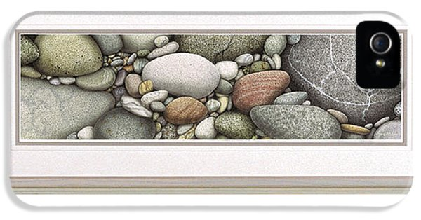 Lake Michigan iPhone 5 Cases - Shore Stones iPhone 5 Case by JQ Licensing