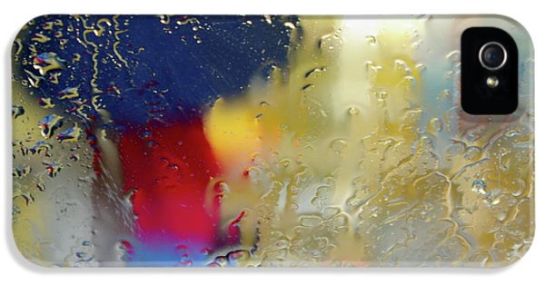 Rain.window iPhone 5 Cases - Silhouette in the Rain iPhone 5 Case by Carlos Caetano