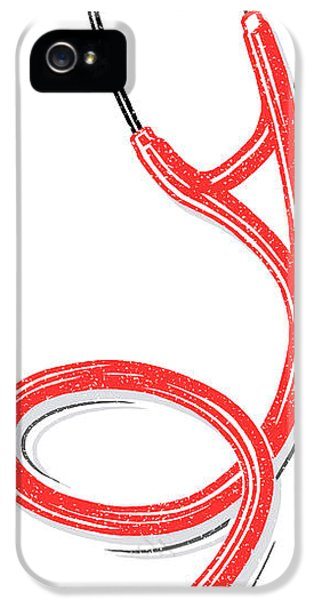 Diagnostic iPhone 5 Cases - Stethoscope, Lino Print iPhone 5 Case by Gary Hincks