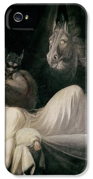 Horror iPhone 5 Cases - The Nightmare iPhone 5 Case by Henry Fuseli
