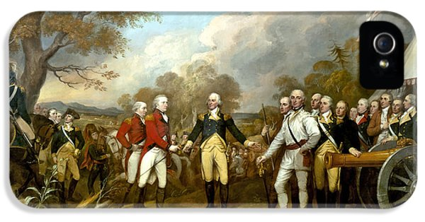 American Flag iPhone 5 Cases - The Surrender of General Burgoyne iPhone 5 Case by War Is Hell Store