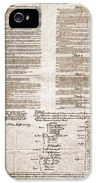Us Constitution iPhone 5 Cases - United States Constitution iPhone 5 Case by Photo Researchers