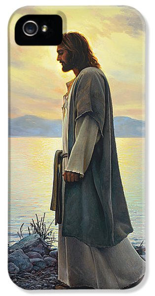 Reflection iPhone 5 Cases - Walk with Me  iPhone 5 Case by Greg Olsen