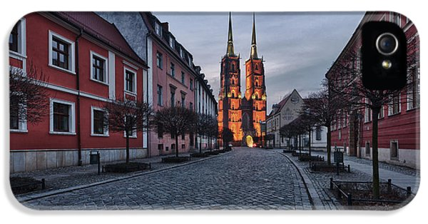 Winter iPhone 5 Cases - Wroclaw Cathedral iPhone 5 Case by Sebastian Musial