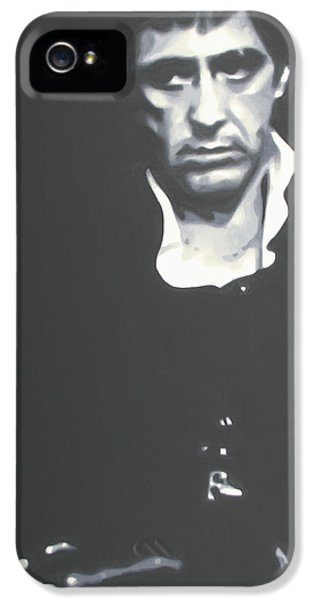 American Crime Film iPhone 5 Cases - Scarface iPhone 5 Case by Luis Ludzska