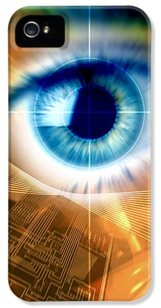 Technological iPhone 5 Cases - Biometric Eye Scan iPhone 5 Case by Pasieka