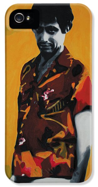 Oliver Stone iPhone 5 Cases - - Scarface - iPhone 5 Case by Luis Ludzska