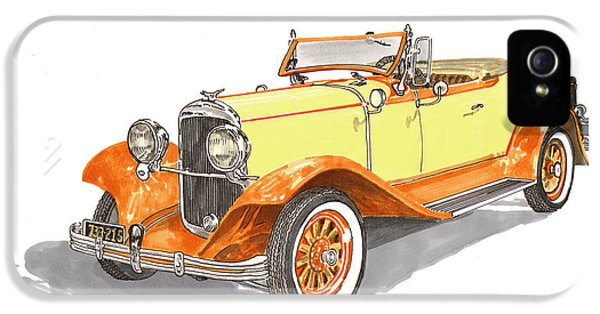 1929 Roadster iPhone 5 Cases - 1929 Chrysler 65 Roadster iPhone 5 Case by Jack Pumphrey