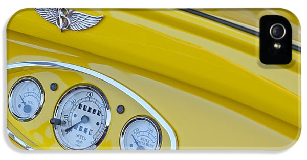 1929 Roadster iPhone 5 Cases - 1929 Ford Model A Roadster Dashboard Instruments iPhone 5 Case by Jill Reger