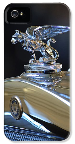1929 Roadster iPhone 5 Cases - 1929 Gardner Series 120 Eight-in-Line Roadster Hood Ornament 2 iPhone 5 Case by Jill Reger