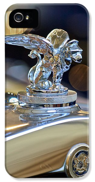1929 Roadster iPhone 5 Cases - 1929 Gardner Series 120 Eight-in-Line Roadster Hood Ornament 3 iPhone 5 Case by Jill Reger