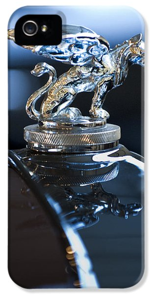 1929 Roadster iPhone 5 Cases - 1929 Gardner Series 120 Eight-in-Line Roadster Hood Ornament 4 iPhone 5 Case by Jill Reger