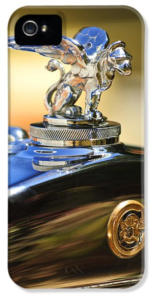 1929 Roadster iPhone 5 Cases - 1929 Gardner Series 120 Eight-in-Line Roadster Hood Ornament iPhone 5 Case by Jill Reger