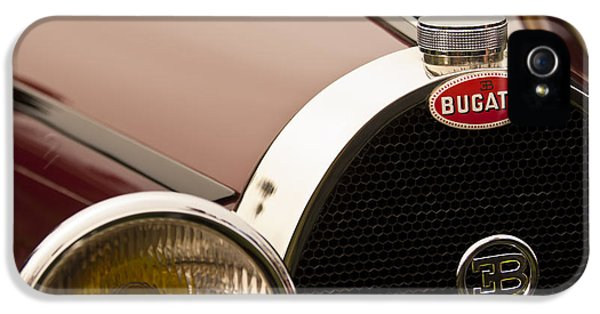 1931 Roadster iPhone 5 Cases - 1931 Bugatti Type 55 Roadster Grille Emblem iPhone 5 Case by Jill Reger