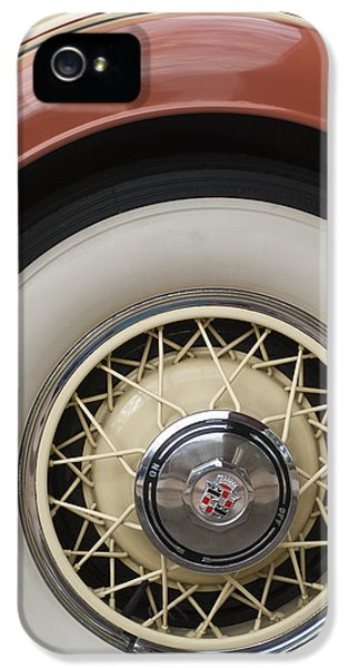1931 Roadster iPhone 5 Cases - 1931 Cadillac Roadster Wheel iPhone 5 Case by Jill Reger