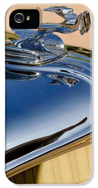 1931 Roadster iPhone 5 Cases - 1931 Chrysler CN Roadster Hood Ornament 3 iPhone 5 Case by Jill Reger