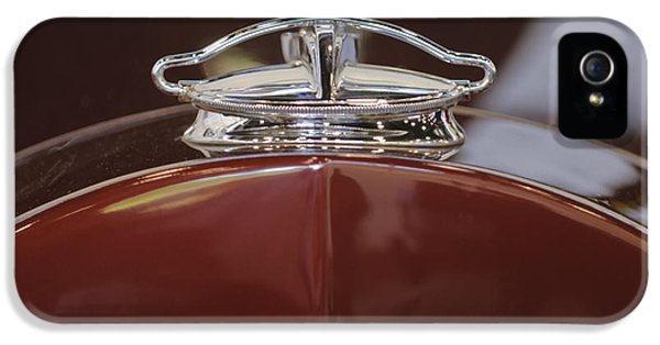 1931 Roadster iPhone 5 Cases - 1931 Packard 840 Roadster Hood Ornament iPhone 5 Case by Jill Reger