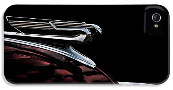 Chrome iPhone 5 Cases - 1940 Chevy Hood Ornament iPhone 5 Case by Douglas Pittman
