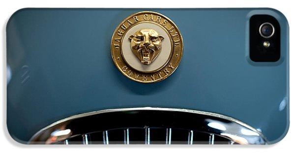 Roadster iPhone 5 Cases - 1952 Jaguar Hood Ornament iPhone 5 Case by Sebastian Musial