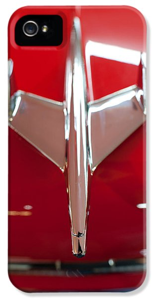 Vintage Car iPhone 5 Cases - 1955 Chevy Belair Hood Ornament iPhone 5 Case by Sebastian Musial