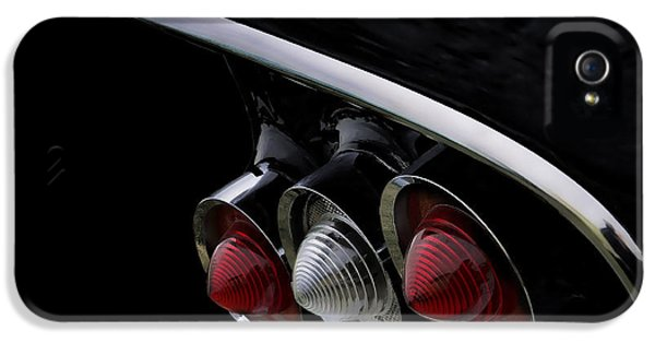 Chrome iPhone 5 Cases - 1958 Impala Tailfin iPhone 5 Case by Douglas Pittman