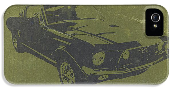 Ford Classic Car iPhone 5 Cases - 1968 Ford Mustang iPhone 5 Case by Naxart Studio