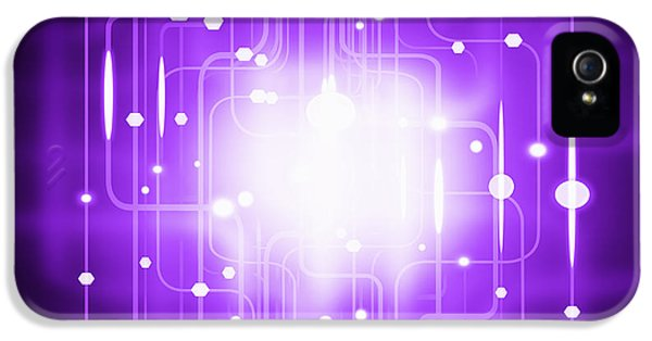 Circuit iPhone 5 Cases - Abstract Circuit Board Lighting Effect  iPhone 5 Case by Setsiri Silapasuwanchai
