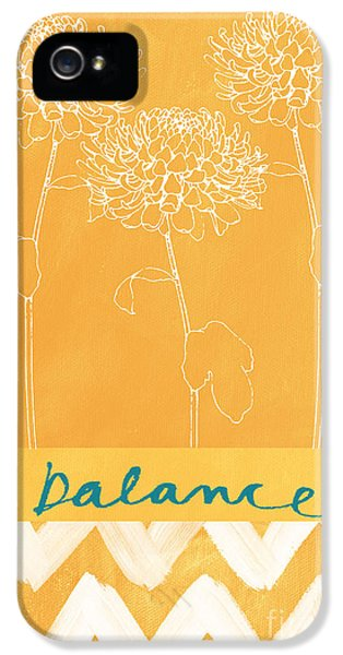 Florals iPhone 5 Cases - Balance iPhone 5 Case by Linda Woods