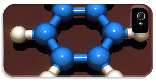 Molecular Graphic iPhone 5 Cases - Benzene Molecule iPhone 5 Case by Laguna Design