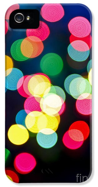Blur iPhone 5 Cases - Blurred Christmas lights iPhone 5 Case by Elena Elisseeva