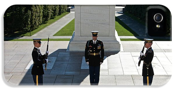 Honor iPhone 5 Cases - Changing Of Guard At Arlington National iPhone 5 Case by Terry Moore