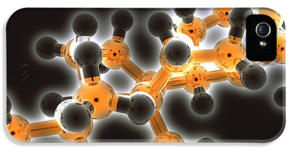 Molecular Graphic iPhone 5 Cases - Molecule iPhone 5 Case by Laguna Design