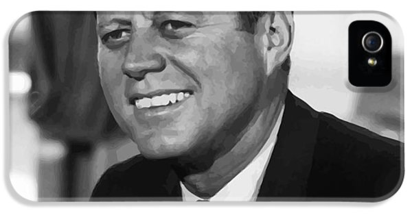 Bay iPhone 5 Cases - President Kennedy iPhone 5 Case by War Is Hell Store